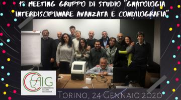 """1° meeting Gruppo di Studio """"Gnatologia Interdisciplinare Avanzata e Condilografia"""""""